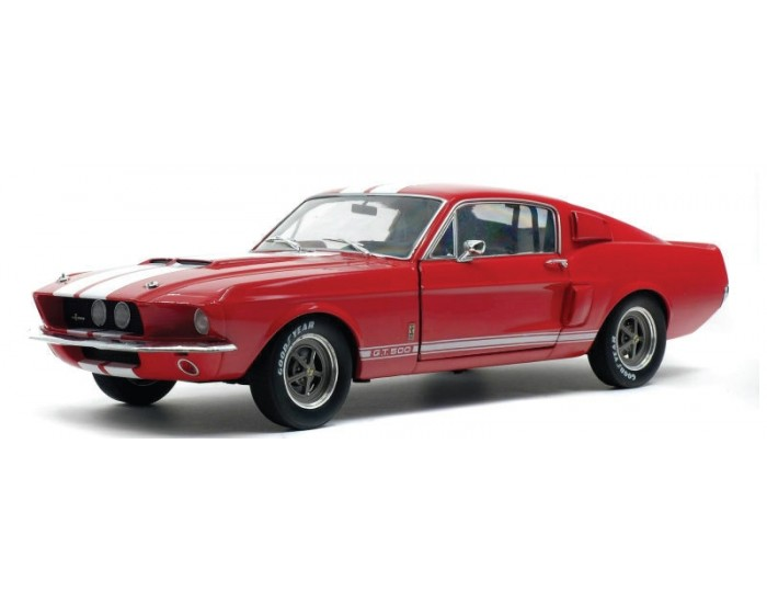 Solido - S1802902 - FORD MUSTANG GT500 1967 Red  - Hobby Sector