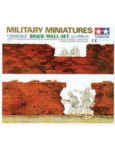 Military Miniatures Brick Wall Set