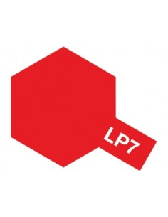 Tamiya - LP-7 - LP-7 Pure Red - 10ml Lacquer Paint  - Hobby Sector