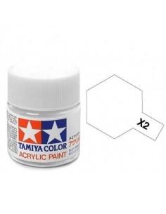 Tamiya - X-2L - X-2 White 23ml Acrylic Paint  - Hobby Sector