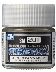 MrHobby (Gunze) - SM201 - SM201 Super fine Silver 2 - 10ml Super Metallic 2 lacquer paint  - Hobby Sector