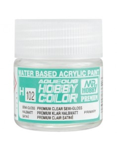 H102 Premium Clear Semi-Gloss - 10ml Tinta Acrílica