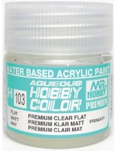 MrHobby (Gunze) - H103 - H103 Premium Clear Flat - 10ml Acrylic Paint  - Hobby Sector