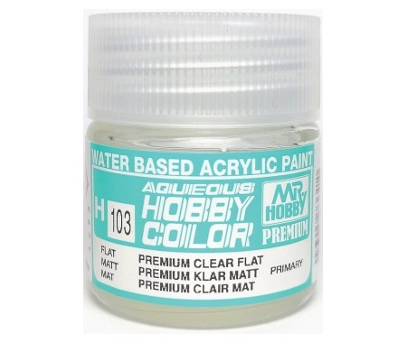 H103 Premium Clear Flat - 10ml Tinta Acrílica