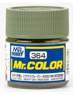 C364 Aircraft Gray Green BS283 - 10ml Lacquer Paint