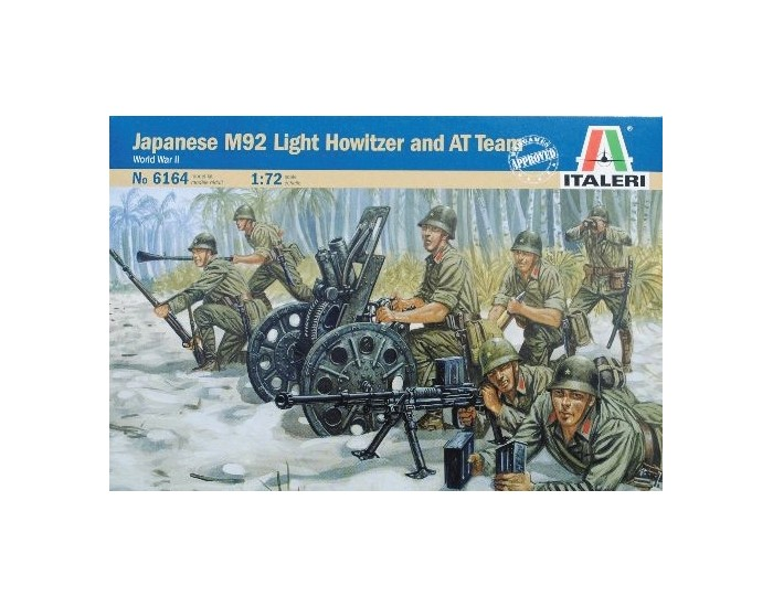 Japanese M92 Light Howitzer and AT team
