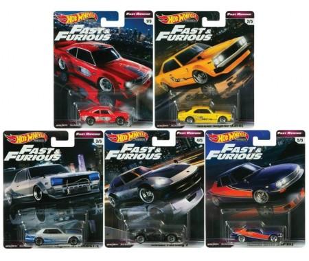 Real Riders Fast & Furious - Fast Rewind Series Set X5