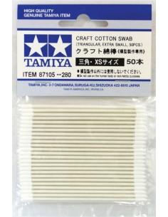 Tamiya - 87105 - Cotonetes Tamiya triangulares XS 50pcs  - Hobby Sector