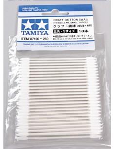 Tamiya - 87106 - Craft Cotton Swab Triangle Small 50pcs.  - Hobby Sector