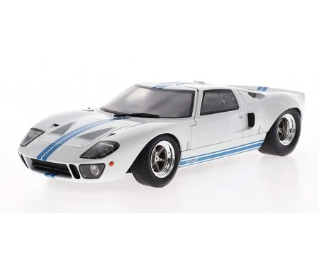 Solido - S1803002 - Ford GT40 Widebody - White / Blue  - Hobby Sector