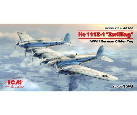"ICM - 48260 - He 111Z-1 ""Zwilling""  - Hobby Sector"