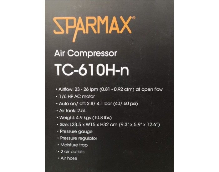 Sparmax - 161009 - Compressor Sparmax TC-610H-n  - Hobby Sector