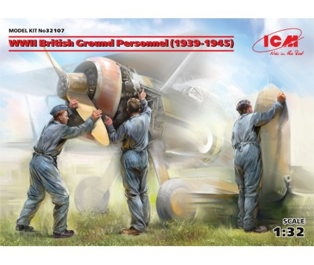 ICM - 32107 - WWII British Ground Personnel (1939-1945)  - Hobby Sector
