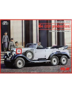 ICM - 35653 - G4 (1939 production) german car with passengers  - Hobby Sector
