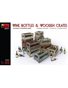 MiniArt - 35571 - Wine Bottles & Wooden Crates  - Hobby Sector