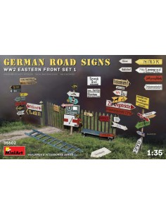 MiniArt - 35602 - German Road Signs WW2 Eastern Front Set 1  - Hobby Sector