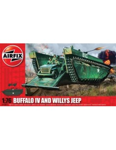 Airfix - Buffalo IV and Willys Jeep