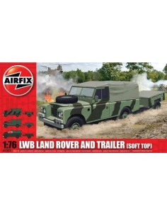 Airfix - LWB Land Rover and Trailer (Soft Top)