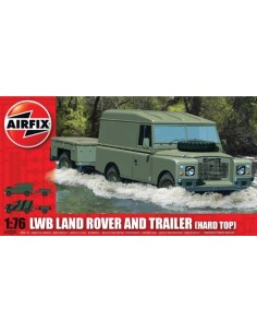 Airfix - LWB Land Rover and Trailer (Hard Top)
