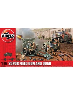 Airfix - 25PDR Field Gun and Quad