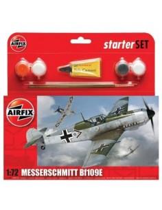 Airfix - A55106 - Airfix - Messerschmitt Bf109E-3 Starter Set  - Hobby Sector