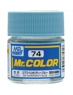 MrHobby (Gunze) - C74 - C74 Air Superiority Blue - 10ml Lacquer Paint  - Hobby Sector