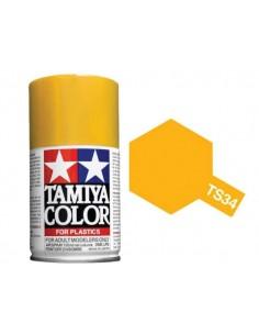Tamiya - TS-34 - Camel Yellow 100ml Spray Acrílico  - Hobby Sector