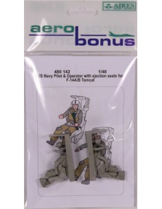 Aerobonus - 480142 - US Navy Pilot & Operator with ejection seats for F-14 A/B Tomcat  - Hobby Sector