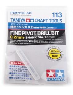 Tamiya - 74113 - Fine Pivot Drill Bit 0.2mm  - Hobby Sector