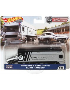 Hotwheels - hwmvFLF56-956H-21 - Real Riders Mercedes-Benz 300 SL Euro Hauler - Team Transport  - Hobby Sector