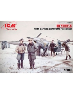 ICM - 48804 - BF 109F-4 with German Luftwaffe Personnel  - Hobby Sector