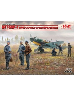 ICM - 48805 - BF 109F-4 with German Ground Personel  - Hobby Sector