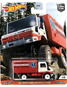 Hotwheels - hwmvFPY86-979Q-1 - Real Riders - '88 Mercedes Unimog U1300 - Wild Terrain 1/5  - Hobby Sector
