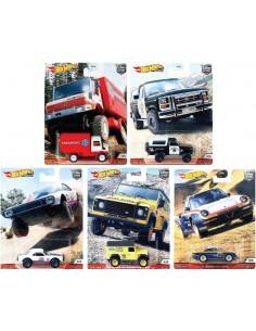 Hotwheels - hwmvFPY86-979Q - Real Riders - Wild Terrain Complete Set x5  - Hobby Sector