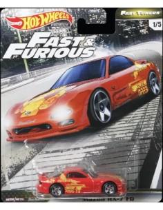 Hotwheels - hwmvGBW75-979F-1 - Real Riders - Mazda RX-7 FD - Fast & Furious 1/5  - Hobby Sector