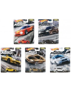 Hotwheels - hwmvGBW75-979F - Real Riders - Fast Tuners Fast & Furious Complete Set x5  - Hobby Sector