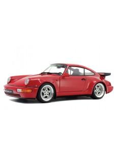 Solido - S1803402 - Porsche 964 Turbo 3.6 Rouge Indien 1990  - Hobby Sector