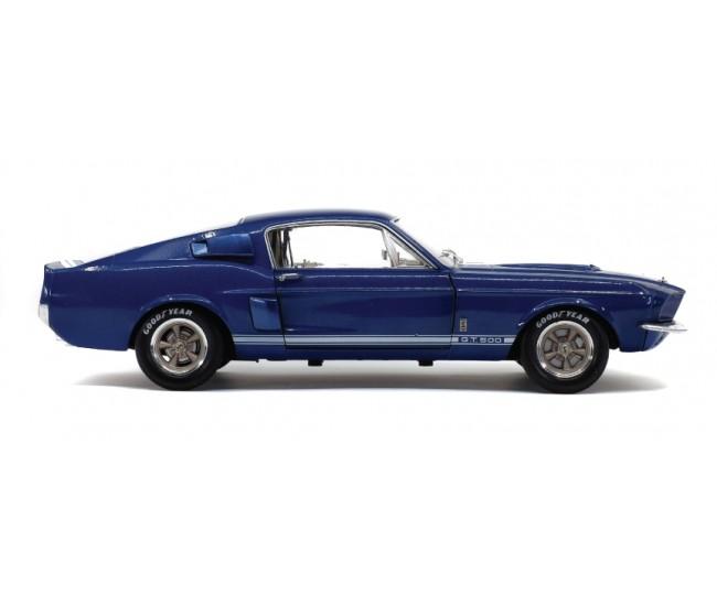 Solido - S1802903 - Shelby GT500 Nightmist Blue / Light Grey Stripes 1967  - Hobby Sector