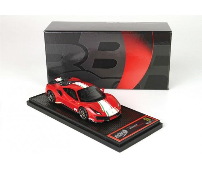 BBR - BBRC216A - Ferrari 488 Pista Piloti Ferrari Rosso Corsa 322  - Hobby Sector