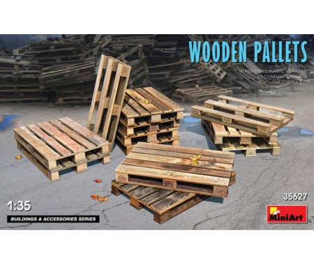 MiniArt - 35627 - Wooden Pallets  - Hobby Sector