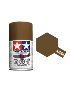 Tamiya - AS-22 - Dark Earth (RAF) 100ml Acrylic Spray  - Hobby Sector