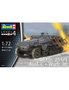 Revell - 03324 - Sd,Kfz 251/1 Ausf. C+ Wurfr. 40  - Hobby Sector