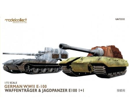 Modelcollect - UA72332 - German WWII E-100 Waffentrager & Jagdpanzer E100 1+1  - Hobby Sector
