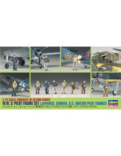 Hasegawa - 35008 - WWII Pilot Figure Set  - Hobby Sector