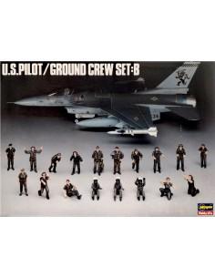 Hasegawa - 36005 - U.S. Pilot / Ground Crew Set B  - Hobby Sector