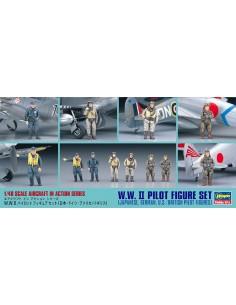 Hasegawa - 36107 - WW II Pilot Figure Set  - Hobby Sector