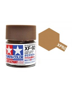 Tamiya - XF-92 - XF-92 Yellow Brown - 10ml Acrylic Paint  - Hobby Sector