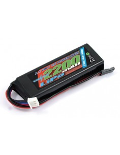 Voltz - VZ0270 - 2300mah 2S 7.4V RX LiPo STRAIGHT BATTERY PACK  - Hobby Sector