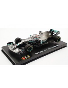 Bburago - 38049 - Mercedes-AMG F1 W10 EQ Lewis Hamilton F1 World Champion 2019  - Hobby Sector