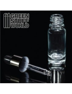 Green Stuff World - GSW9760 - Glass Bottle With Pipette  - Hobby Sector